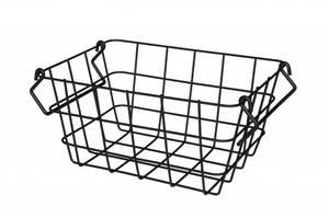 Bilde av Maku Metallkurv i sort med håndtak 18x24x12cm