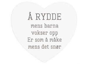 Bilde av Magnetskilt hjerte Å rydde mens...
