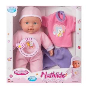 Bilde av MY BABY MATHILDE MYK DUKKE MED LYD OG EKSTRA TØY