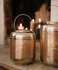 Bilde av Fanni K Lanterne børstet gull, Metall Ø20cm