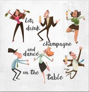 Bilde av Serviett lunch 20 stk Lets drink champagne