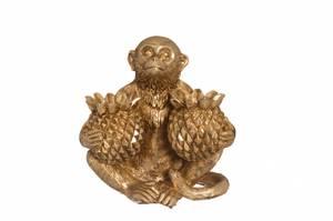 Bilde av Ape med ananas gull 14.5cm