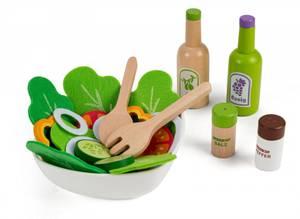 Bilde av 3-2-6 Salatsett i tre med tilbehør