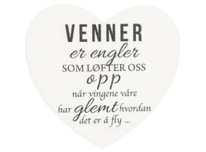 Bilde av Magnetskilt hjerte Venner er eng 8x7,5cm