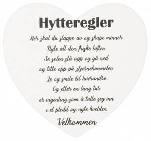 Bilde av Magnetskilt hjerte Hytteregler 8x7,5cm