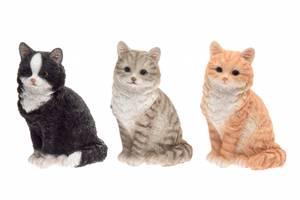 Bilde av Katt sittende 26cm, 3 ass farger