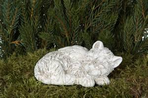 Bilde av Engel hund på pinne poly 13.5x10.5x8cm