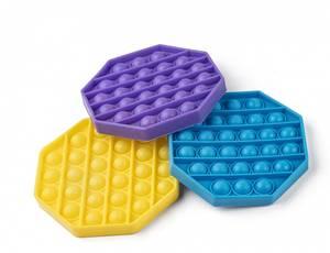 Bilde av Pop-it Pop'n Play 8 kantet 3 ass farger