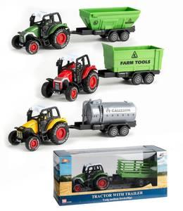 Bilde av Traktor med tilhenger, 3 ass
