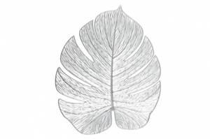 Bilde av Dekkebrikke blad sølv 33x40cm