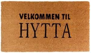 Bilde av Dørmatte Velkommen til hytta 40x70cm