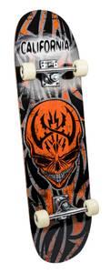Bilde av California Skateboard alu sort/orange