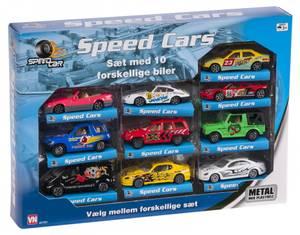 Bilde av Speedsett med 10 biler metallbiler