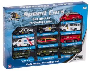 Bilde av Speedsett metall redningsbiler 10 stk