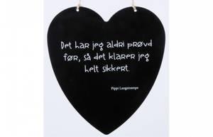 Bilde av Metallskilt hjerte Pippi Langstrømpe Str: