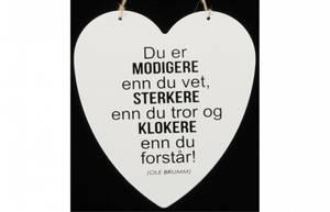 Bilde av Metallskilt hjerte Du er modigere… Str: 16x17,5cm