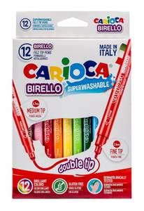 Bilde av Carioca 12 tusjer tykk og tynn spiss
