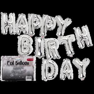 Bilde av Folieballonger Happy Birthday Sølv