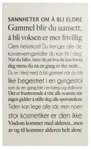 Bilde av Metallskilt avlangt Å bli eldre 16x27cm