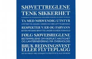 Bilde av Serviett m/tekst Sjøvettregler blå