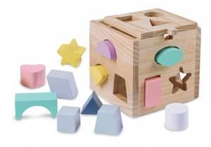 Bilde av Baby Wood Put i box i tre. Pastell