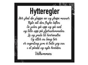 Bilde av Serviett lunch 20 stk Hytteregler 33x33cm