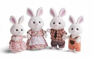 Bilde av Animal City Kaninfamilie 4 figurer i settet.