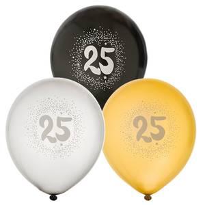 Bilde av Ballonger Bursdag 25år 6pk