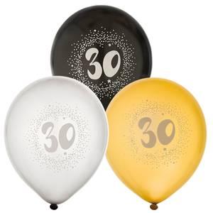 Bilde av Ballonger Bursdag 30år 6pk