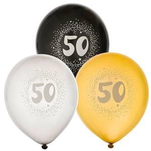 Bilde av Ballonger bursdag 50år 6pk
