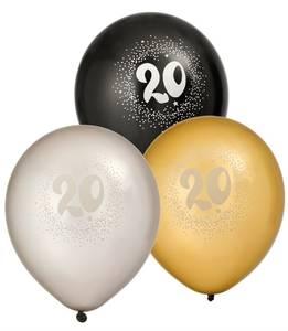 Bilde av Ballonger Bursdag 20år 6pk