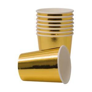 Bilde av Pappkrus Metallic gull 8pk
