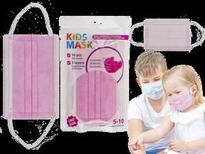 Bilde av Munnbind rosa for barn 5-10år. 3 lags, 10 stk i