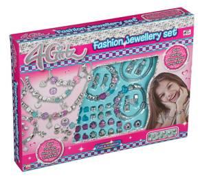 Bilde av 4-Girlz Smykkesett/armbånd med ulike charms.