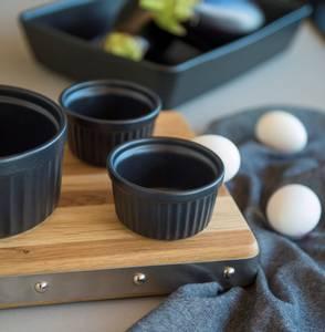 Bilde av Maku ildfast skål, rund sort. 150ml, 4pk
