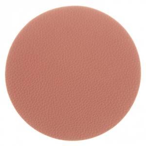 Bilde av Glassbrikke Rund Pu-skinn rosa 10cm s/6