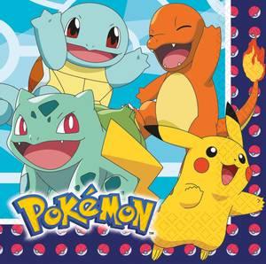 Bilde av Servietter Pokemon 33x33cm 16pk
