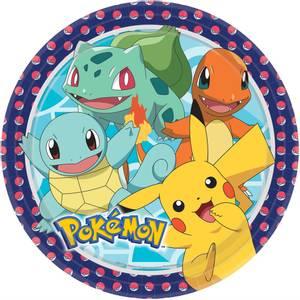 Bilde av Papptallerken Pokemon 22.8cm 8pk