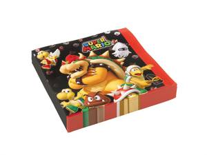 Bilde av Servietter Super Mario 33x33cm 20pk