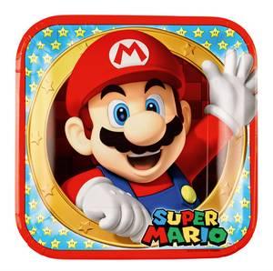 Bilde av Papptallerken Super Mario 22.8cm 8pk