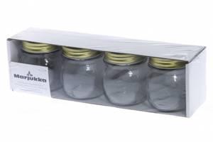 Bilde av Glasskrukke med skrulokk 0,25L 4pk