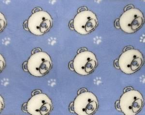Bilde av Vetbed lyseblå - hvite bamser