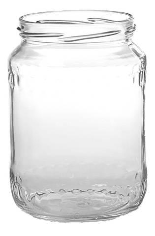 Bilde av Glass runde 1kg med lokk 12-pakk