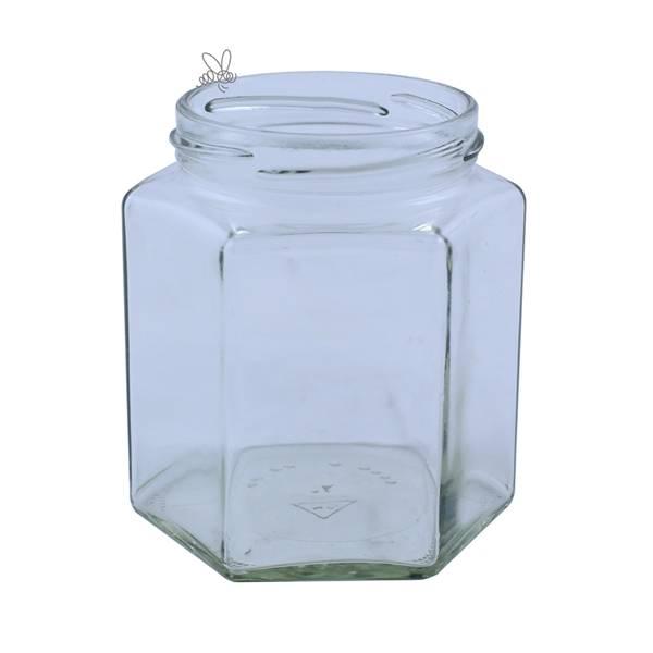 Glass 6-kantet 500g, 15-pakk
