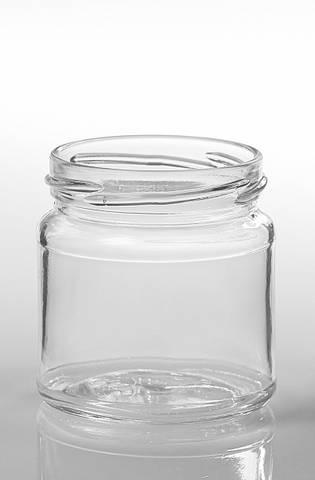 Bilde av Glass runde 250g med lokk 15-pakk
