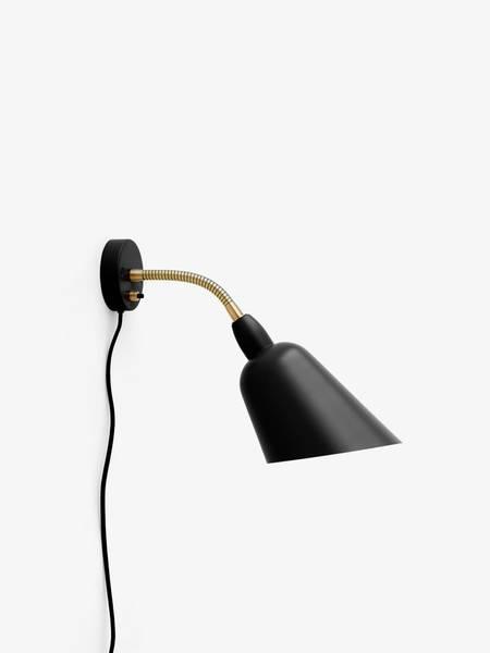 Bellevue Wall Lamp AJ9 Black/Brass &tradition