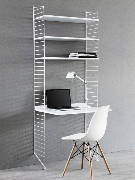 Hylle med arbeidsplate 200 x 78 x 30, Grey