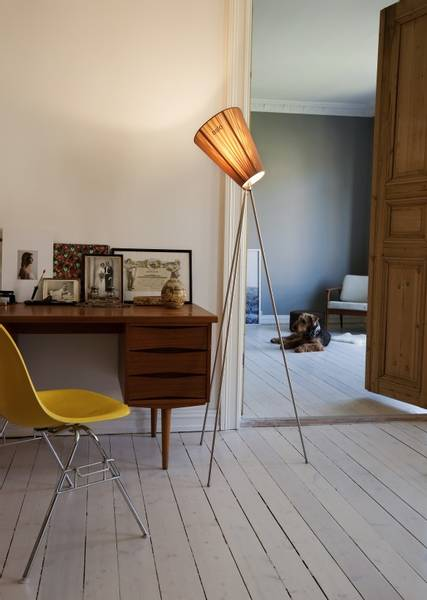 Oslo Wood Beige/Black Gulvlampe