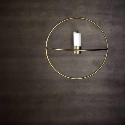 Bilde av  POV Circle lysestake Brass S