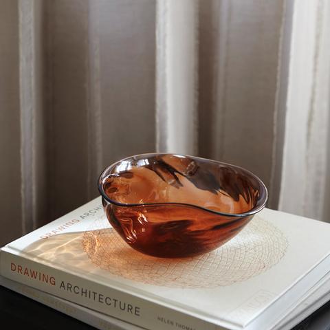 Bilde av Relief Glass Bowl peach